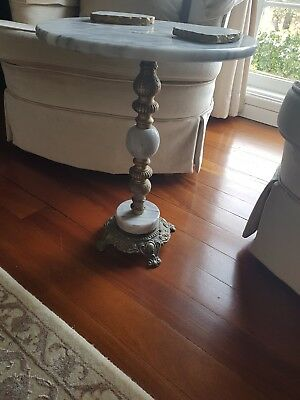 Antique Marble Side Table 48cm