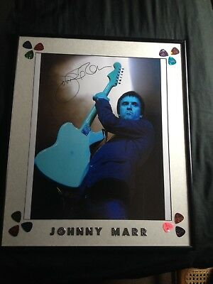 Johnny Marr Hand Signed Photograph  24' X 18' Framed The Smiths Framed