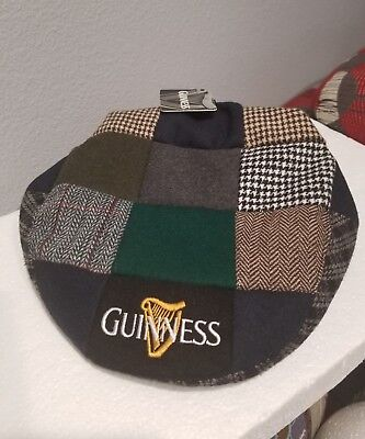 aba25dcf302 Guinness Patchwork Flat Hat Mens 59cm Medium New with tag