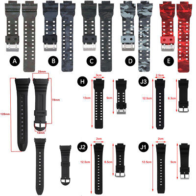 Replacement Silicone Sport Wrist Band Strap ForCasio G-Shock GA-110/100/120 W96