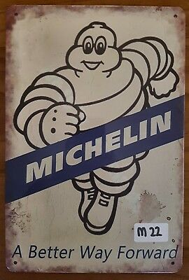 Michelin Tyres Metal Tin Signs Bar Shed & Man Cave Signs AU Seller