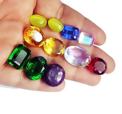 Mixed Shape 104.15 Cts/11 Pcs Lab-Created Gemstones Lot Best Price