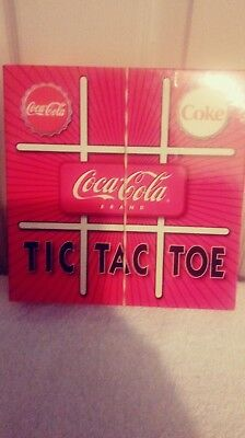 Coke, Coca Cola Board Game ( Tic Tac Toe ) Rare, Collectable Childrens Game .