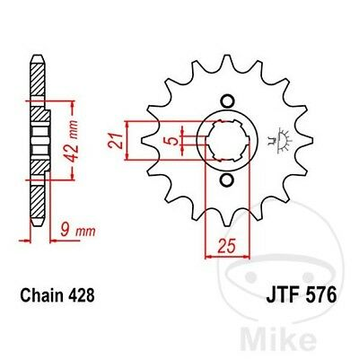 JT 428 Pitch 18 Tooth Front Sprocket JTF576.18 for Yamaha XT350 1985-2000