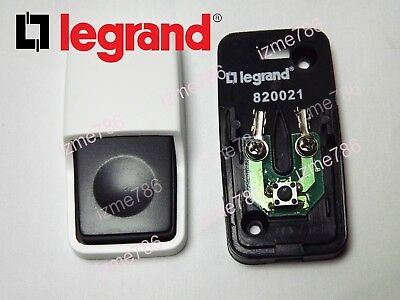 *UK* Black & White Durable LeGrand Wired Door Bell Push Button Press Doorbell