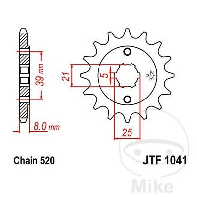 JT Front Sprocket 14T 520 Pitch JTF1041.14 Kymco Mxer 150 2004-2007
