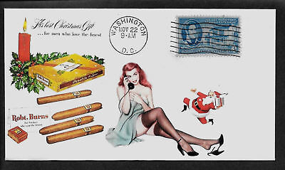 1950 Robert Burns Cigars & Pin Up Girl Featured on Collector's Envelope *A198