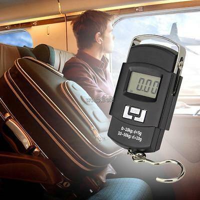 110lb/50kg Portable Digital Luggage Scale Travel LCD Hook Electronic WST 01