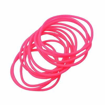 Gummy Shag Bands 90's Retro Pack of 12 Pink