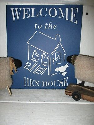 """PRIMITIVE WOOD SIGN /""""WELCOME TO THE BEACH CATCH SOME RAYS SWIM.../""""~Beach House"""