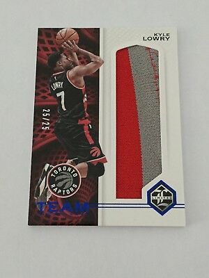 2016/17 Panini Limited KYLE LOWRY team trademarks relics prime #D/25 patch!
