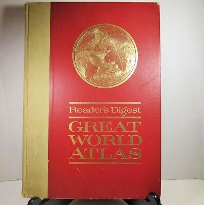 Vintage Readers Digest Great World Atlas 1st Edition 1963 Hardcover Coffee Table