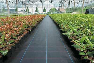1/2/3/4M Wide 100gsm Weed Control Fabric Ground Cover Garden Membrane landscape