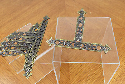 Six Vintage Hammered Brass Furniture Accent Decoration Embellishments BS DC8575