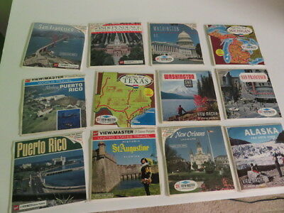 Viewmaster-12 Sets-Usa Travel-St Augustine-New Orleans-Alaska-Puerto Rico-Texas!