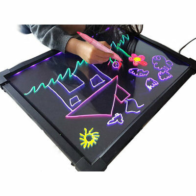 LED Drawing Writing Board Remote Controlled Fluorescent Light Up Sensory Play