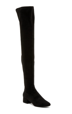 6438a93fbf2 Dolce Vita Jimmy Women s Black Over The Knee Block Heel Boot Sz 7.5 2961