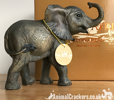 Elephant Calf ornament figurine quality Leonardo range elephant lover gift boxed