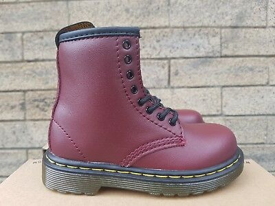 7772dc7832b62 New In The Box Dr Martens 1460 J 15382601 Softy T Cherry Red For Junior