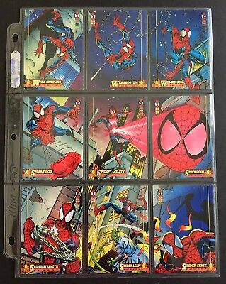 1994 Spider-Man Fleer Ultra Complete Card Set #1-150 Plus Promo Sheet
