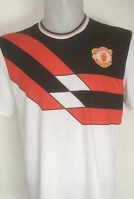 Manchester United White Adidas Originals Retro Jersey Size Adults Medium New