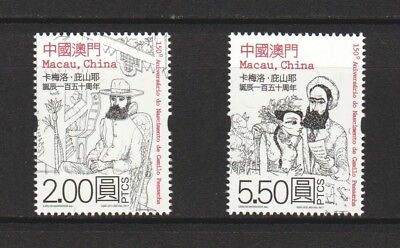 Macau China 2017 Camilo Pessanha 150Th Birth Anniv. Comp. Set Of 2 Stamps Mint