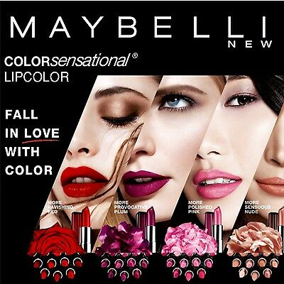 MAYBELLINE Color Sensational Lipstick CHOSE from 60 SHADE - NEW FREE PP