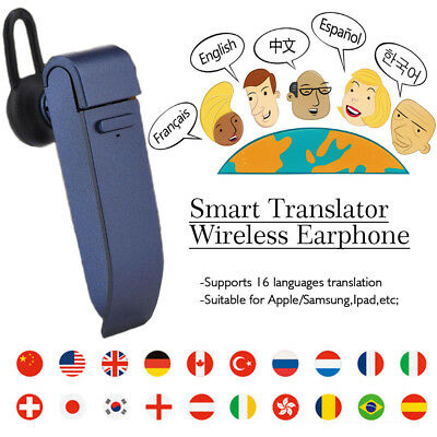 16 Language Voice Smart Real Time Translator Headset for Learning Meeting IN US