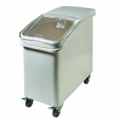 Commercial 21-Gallon Plastic Ingredient Bin, with Casters and Scoop Handle New