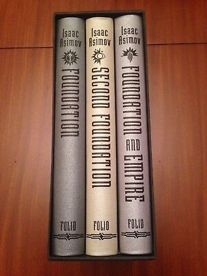 Folio Society. Isaac Asimov. The Foundation Trilogy. Second, And Empire. Sci-Fi.