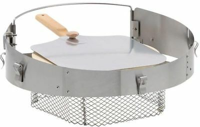 Kettle Grill Pizza Oven Stone Kit 18 22.5 Weber BBQ Wood Charcoal Fired Cooker
