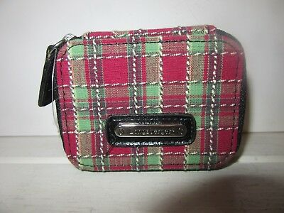 Longaberger  PILL Vitamin CASE w/ ID Card Holder HOLIDAY PLAID