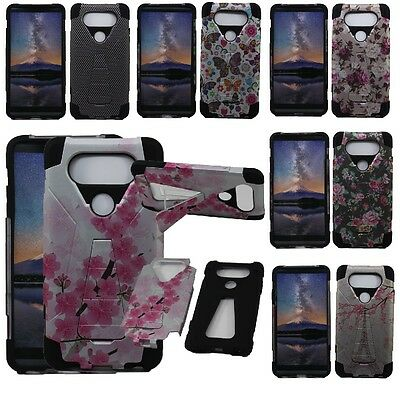 For LG V20 Hybrid Armor Hard Cell Phone Case+Soft Silicone Skin Cover Kickstand