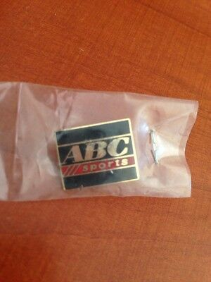 Vintage ABC Sports pin Black Red  New