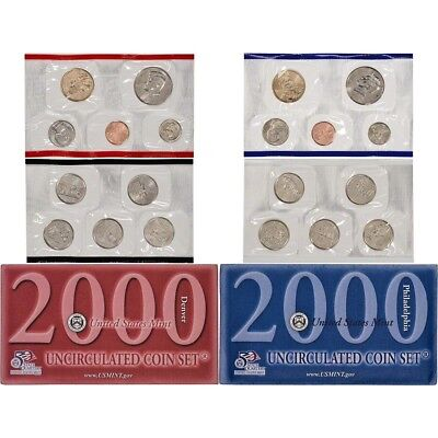 2000 United States Mint Uncirculated Coin Set