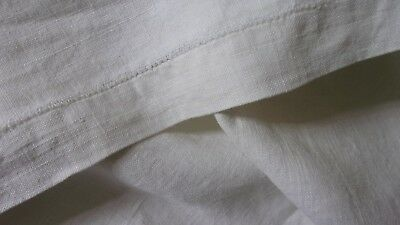 "Antique French Linen Monogrammed Sheet 88"" x 92"" long Light Nubby 2.25 Pounds"