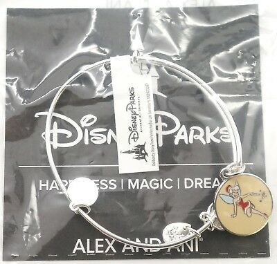 New Disney Alex and Ani Tinker Bell Red Dress Christmas Holiday Bracelet Silver