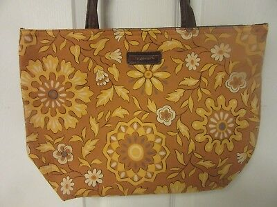 Longaberger Double Handled Fabric Tote Bag ~ Golden Fields Pattern