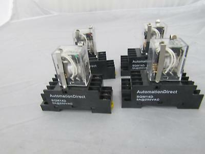 AutomationDirect SQM14D 5A@250VAC Cube Relay Lot of 4