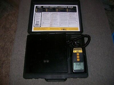 CPS CC220 Compute-A-Charge 220 lb Refrigerant Scale EXCELENT CONDITION!!!!!!!!!!