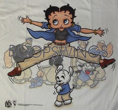 Vintage 1998 Betty Boop Boopswings Changers Made in USA T-Shirt NWT NOS Size XL