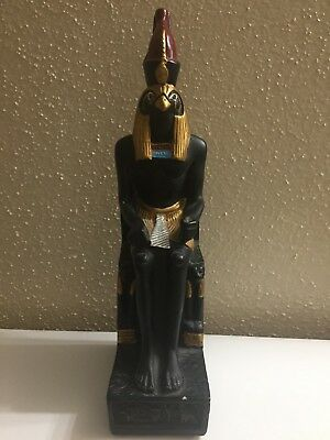 Ancient Egyptian Falcon God HORUS for Protection Hand carved Statue From Egypt