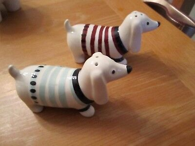 NEW Dachshund Sausage Dog Salt and Pepper Shakers NEW