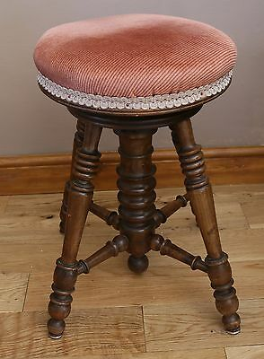 Antique Victorian Revolving Piano Stool