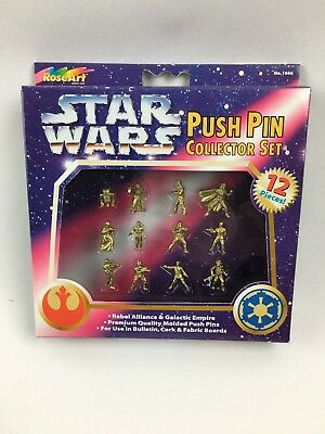 Star Wars push pin collector set, New and Sealed RoseArt 12 Pins