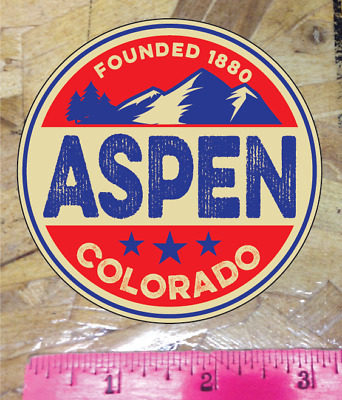 Aspen Colorado Vintage Decal Sticker Ski Skiing Hike Snowboard Mountains 3""