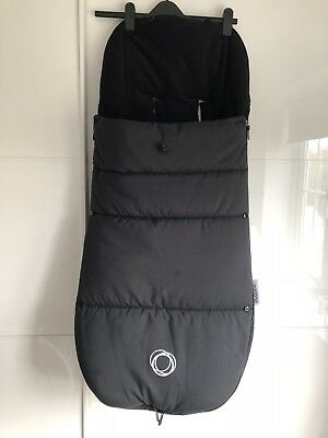 Bugaboo Black Footmuff Fits Donkey/buffalo/bee/cameleon/fox Etc