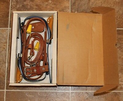 "KLEIN CN1972AR Pole Climbers w/ Pads, Straps and 1-1/2"" Gaffs Brand New"