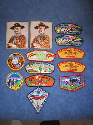 Vintage Lot of (11) Boy Scout Patches BSA and (2) Boy Scouts of Canada Patches