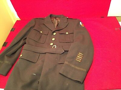 Sz 39R WW2 US 9th AAF Pilot officer 4 pocket Jacket tunic large A2 44 Dated